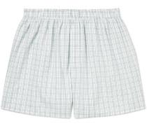 Checked Cotton Boxer Shorts