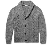Shawl-collar Cable-knit Wool And Cashmere-blend Cardigan