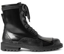 Polished-leather Kiltie Brogue Boots