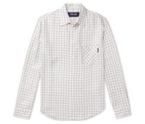 Jazzed Oversized Glittered Checked Jacquard Shirt