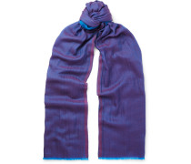 Cashmere And Cotton-blend Scarf