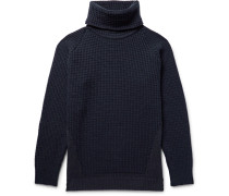 Merino Wool-blend And Sea Island Cotton Rollneck Sweater