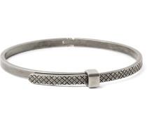 Intrecciato Oxidised Sterling Silver Bracelet
