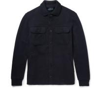 Slim-fit Boiled Stretch Wool-blend Jacket