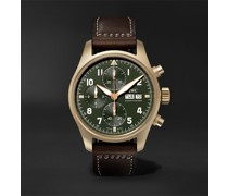 Pilot's Spitfire Automatic Chronograph 41mm Bronze and Leather Watch, Ref. No. IW387902