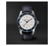 Supermarine S300 White Automatic 40mm Stainless Steel and Rubber Watch, Ref. S300-WH-R-S