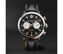 Capeland Automatic Chronograph 42mm Stainless Steel and Leather Watch, Ref. No. M0A10451