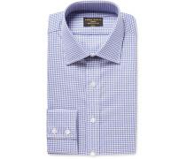 Blue Gingham Cotton Oxford Shirt