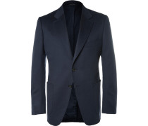 Blue O'connor Slim-fit Unstructured Cashmere Blazer