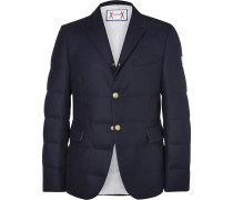 Quilted Wool Down Blazer