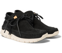 Ute Moc Trainer-folk Suede And Mesh Sneakers