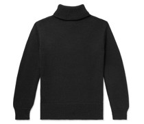 Ribbed Wool Rollneck Sweater