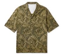 Eren Camp-Collar Printed Cotton-Voile Shirt