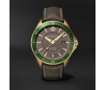 Clifton Club Automatic 42mm Bronze and Suede Watch, Ref. No. M0A10565