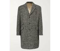 Herringbone Brushed Wool, Alpaca and Mohair-Blend Coat