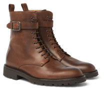Paddington Buckled Leather Boots