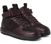 Lunar Force 1 Workboot Leather And Flyknit High-top Sneakers