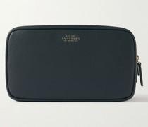 Panama Cross-Grain Leather Wash Bag