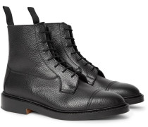 Roy Pebble-grain Leather Boots