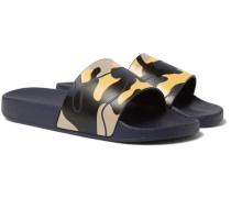 Camouflage-print Rubber Slides