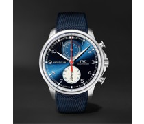 + Orlebar Brown Portugieser Yacht Club Automatic Chronograph 44.6mm Stainless Steel and Canvas Watch, Ref. No. IW390704