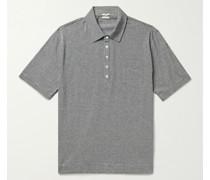 Filicudi Striped Slub Cotton and Linen-Blend Jersey Polo Shirt