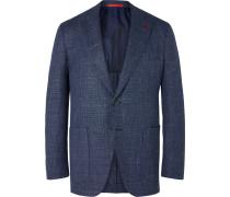 Wool, Silk and Linen-Blend Blazer