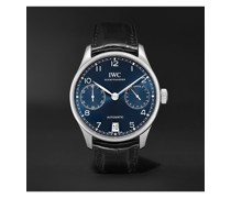Portugieser Automatic 42mm Stainless Steel and Alligator Watch, Ref. No. IW500710MSNET60
