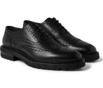 Pebble-grain Leather Wingtip Brogues