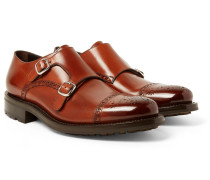 Bristol Burnished-leather Monk-strap Brogues