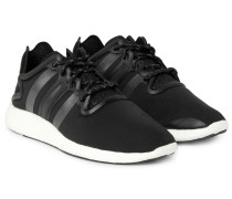Yohji Run Suede-trimmed Neoprene Sneakers