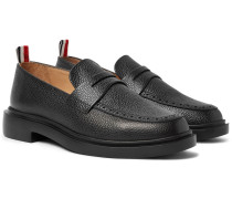 Pebble-grain Leather Penny Loafers