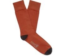 +Corgi Colour-Block Cotton-Blend Socks