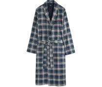 Plaid Cotton-twill Robe
