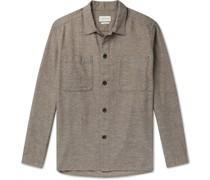 Eltham Mélange Brushed Organic Cotton-Flannel Overshirt