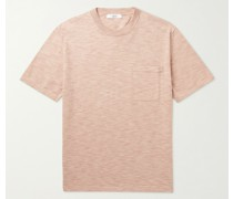 Knitted Space-Dyed Cotton T-Shirt