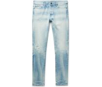 The Cast 2 Skinny-Fit Paint-Splattered Distressed Denim Jeans