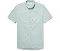 Dweller Button-down Collar Overdyed Cotton-poplin Shirt
