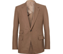 Brown Eggsy Slim-fit Cotton-twill Suit Jacket