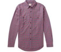 Seasons Checked Cotton-flannel Shirt