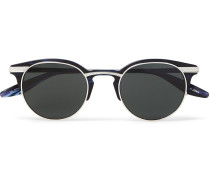 Roux Round-frame Acetate And Silver-tone Sunglasses