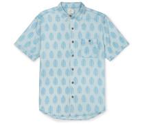 Coast Banana Leaf-print Brushed-twill Shirt