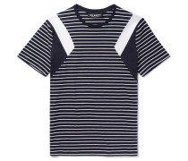 Slim-fit Panelled Striped Cotton-jersey T-shirt