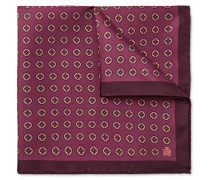 Medallion-print Mulberry Silk-twill Pocket Square