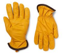 Merino Wool-lined Full-grain Leather Gloves
