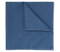 Cotton-chambray Pocket Square