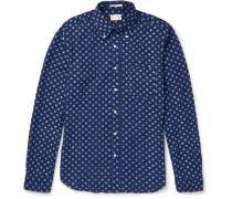 Polka-dot Cotton Oxford Shirt