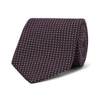 8.5cm Polka-dot Silk-blend Jacquard Tie