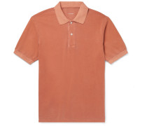 Slim-Fit Pigment-Dyed Organic Cotton-Pique Polo Shirt