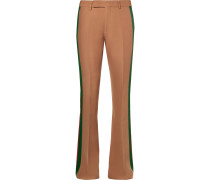Wide-leg Striped Wool And Silk-blend Crepe Suit Trousers
